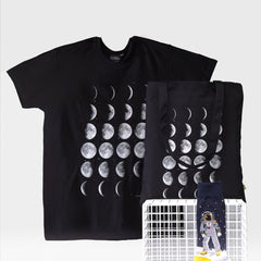 Moon Phase Organic Cotton Tote Bag