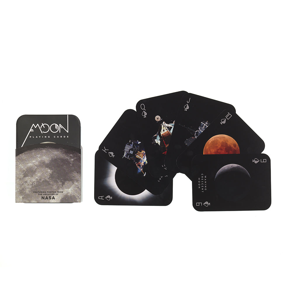 Moon Playing Cards, full colour, in tin