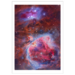 Orion and Running Man Nebula A3 Print
