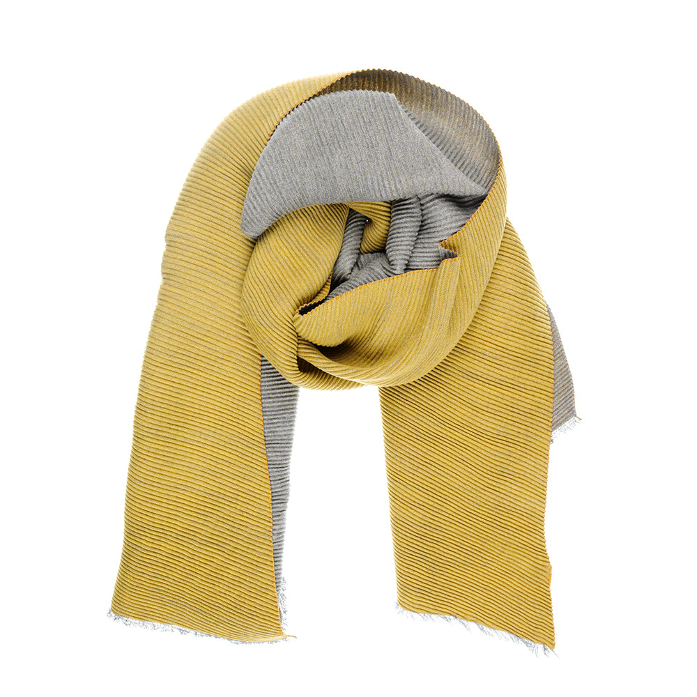 Mustard and Grey Scarf