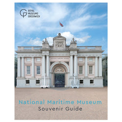 National Maritime Museum Guidebook with image of the museum entrance flanked by two anchors on a sunny day