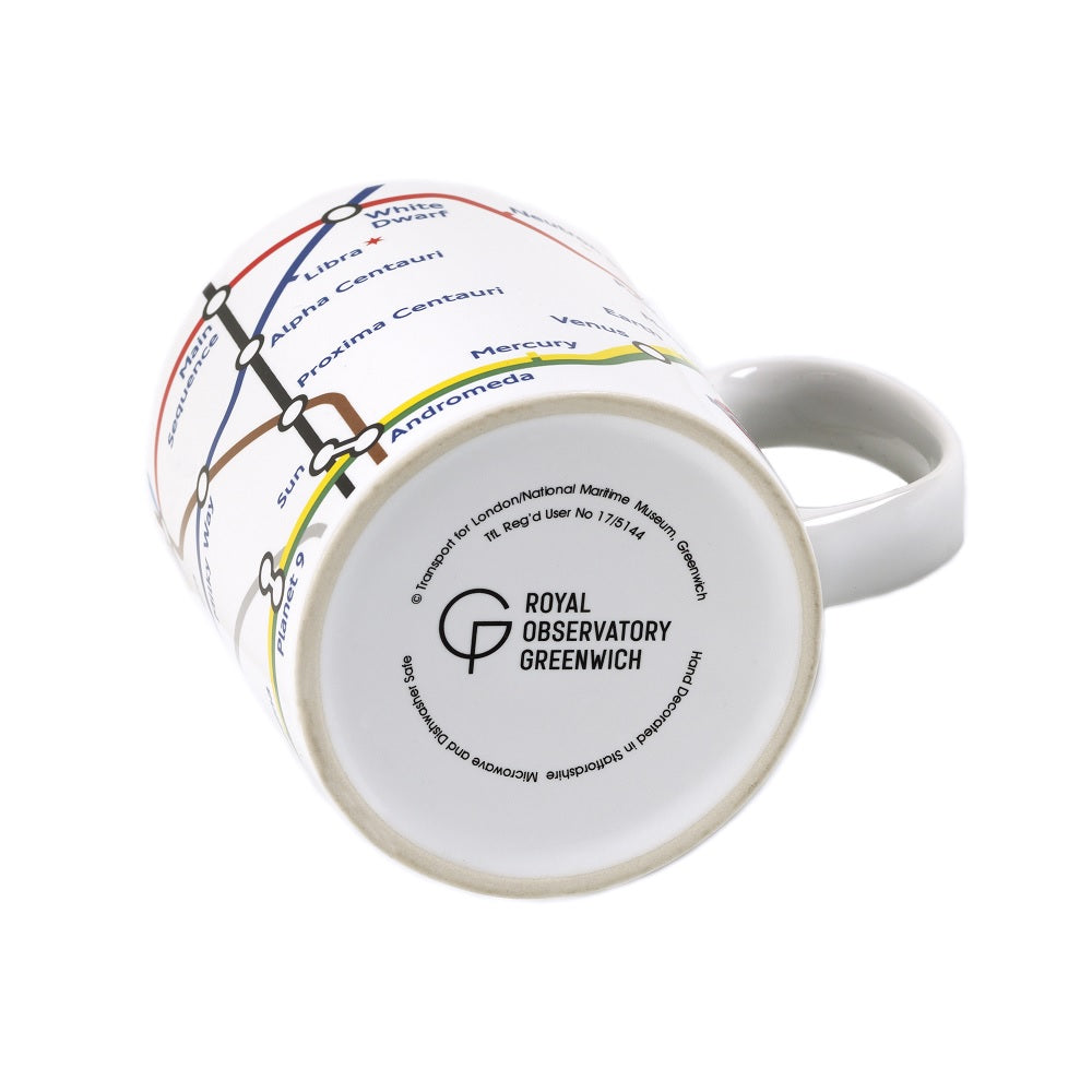 Night Sky Underground Map Mug base with Royal Observatory Greenwich logo