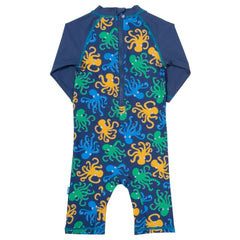 Kids Octopus Print Sun Suit back
