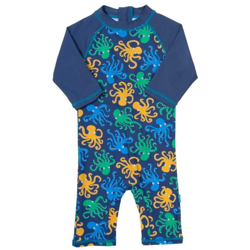 Kids Octopus Print Sun Suit