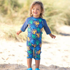 Kids Octopus Print UPF 50+ Sun Suit