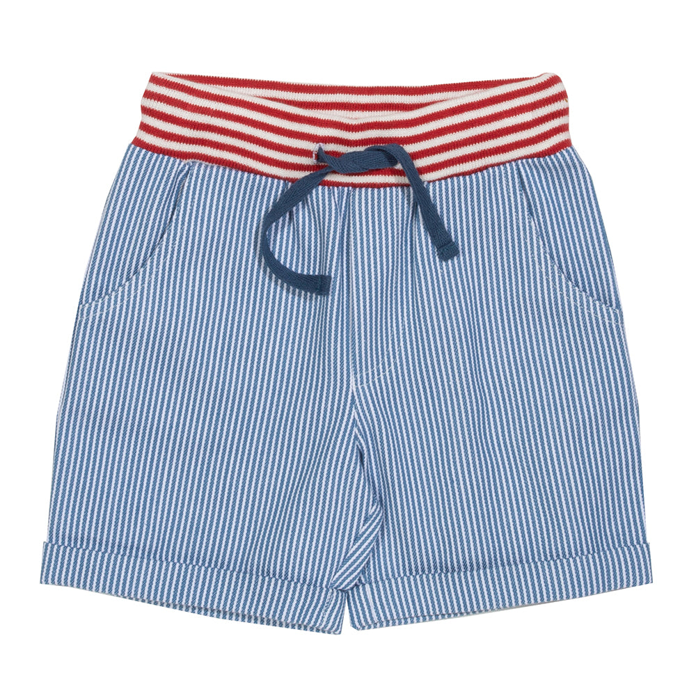 Organic Cotton Striped Shorts
