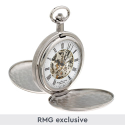 Chrome Twin Lid Pocket Watch