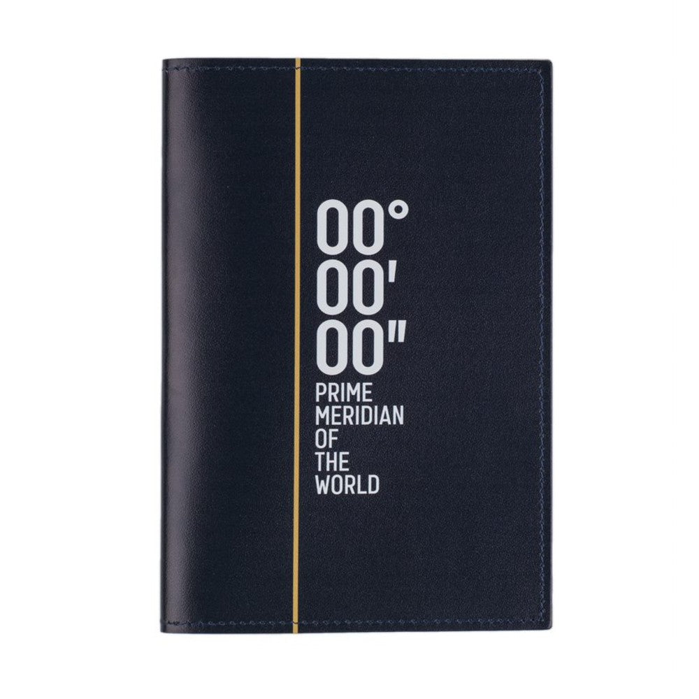 Prime Meridian Recycled Leather Passport Holder front