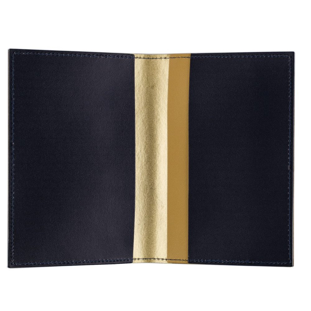 Prime Meridian Recycled Leather Passport Holder
