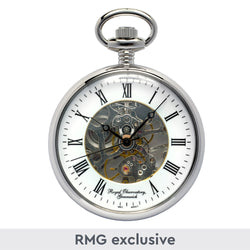 Chrome Skeleton Pocket Watch