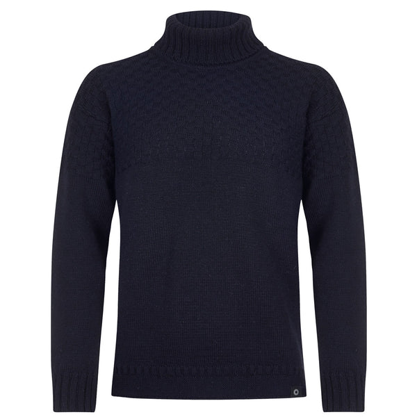 Shackleton Navy Wool Jumper