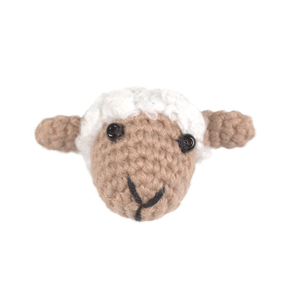 Sheep Crochet Brooch