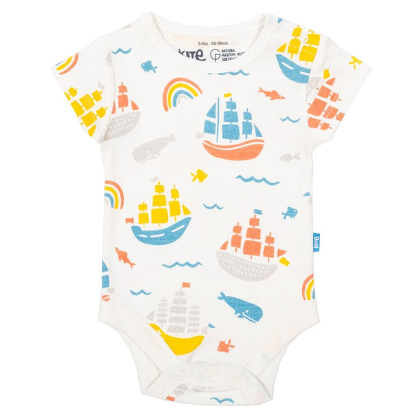 Organic Cotton Baby's Ship Ahoy Bodysuit front