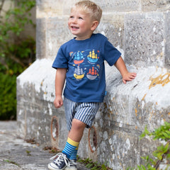 Organic Cotton Kids Ship Ahoy TShirt lifestyle image