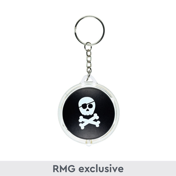Skull and Crossbones Light Up Keyring