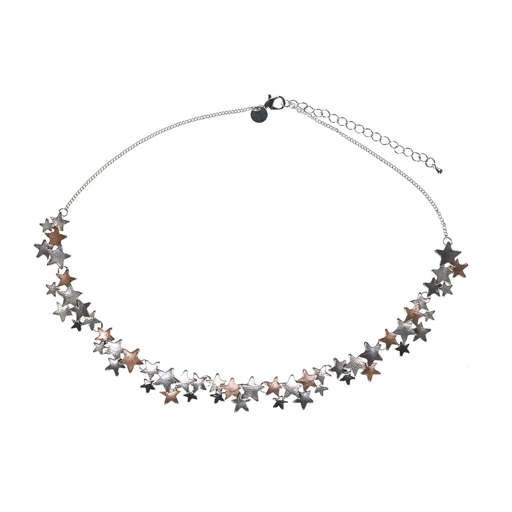Stars Mixed Metal Necklace