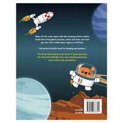 Space Adventure Sticker Book back cover