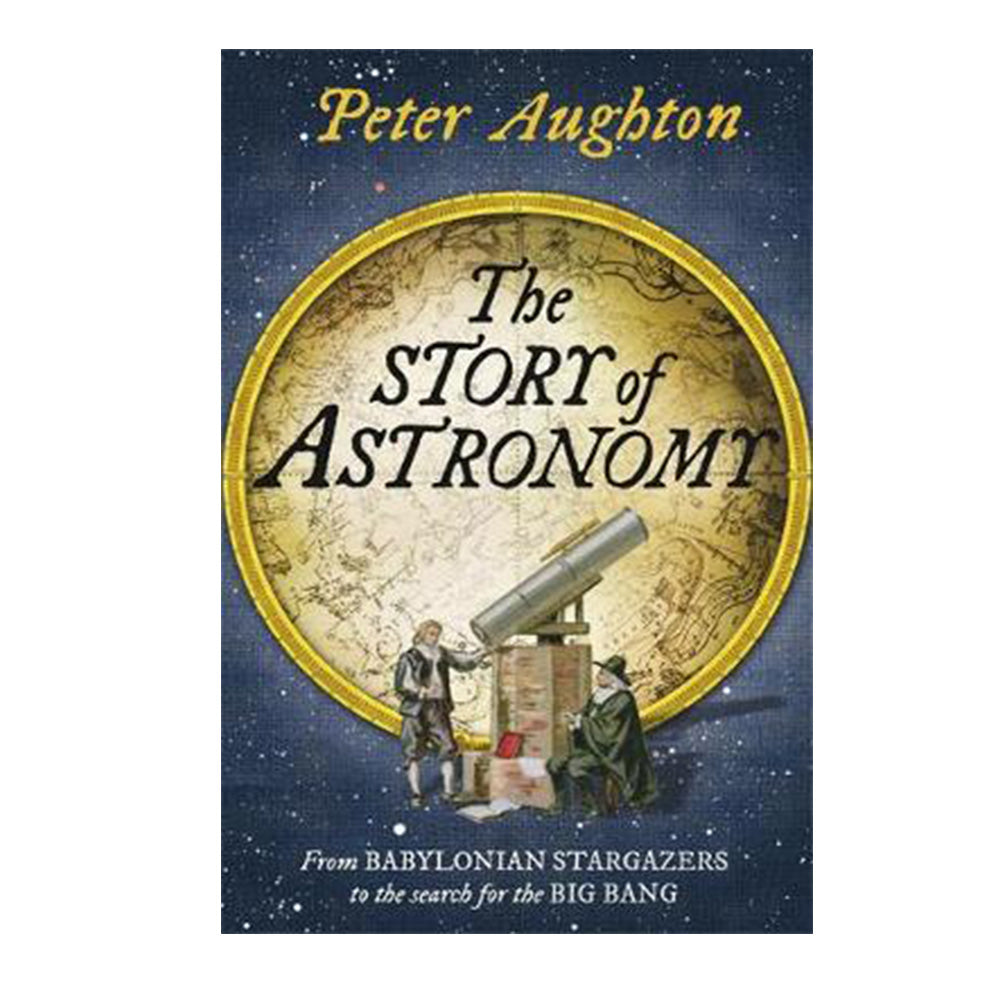 The Story of Astronomy book cover with astronomers and telescope