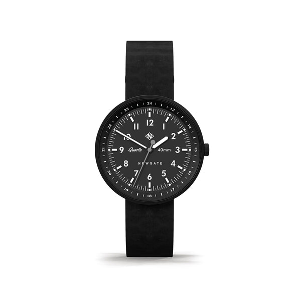 Torpedo Black Leather Strap Watch