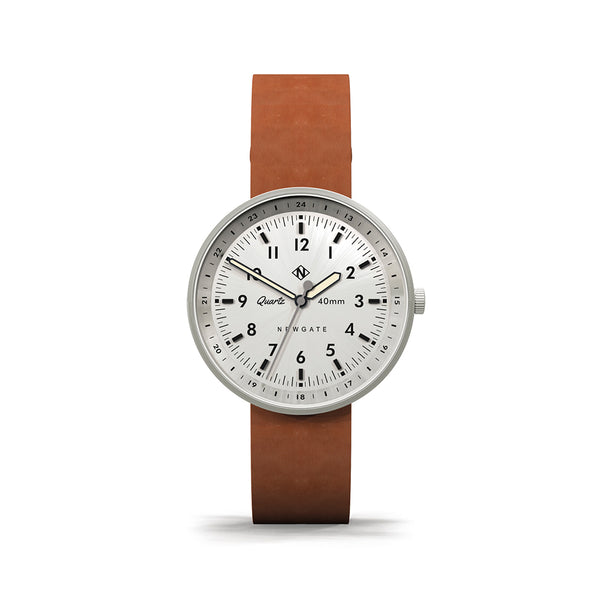 Torpedo Tan Leather Strap Watch