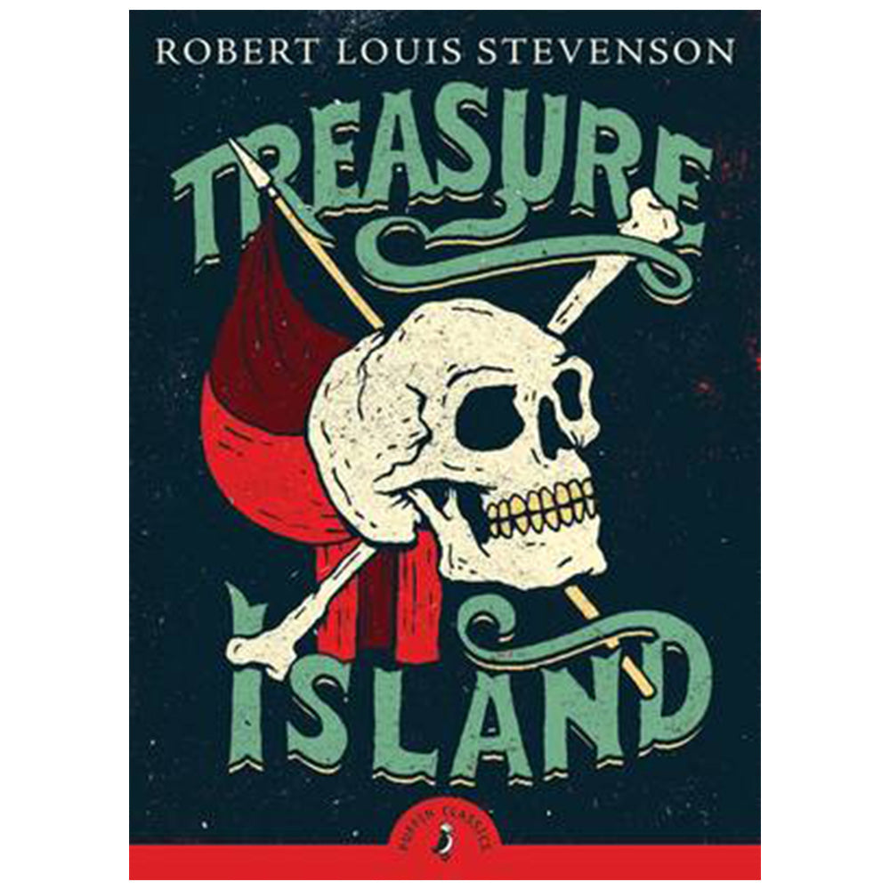 Treasure Island - Children's Book with skull & crossbone on cover