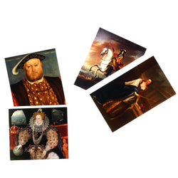 Tudor and Stuart Postcards of Elizabeth I, Henry VIII, William and Mary Stuart
