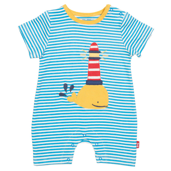 Organic Cotton Whale Romper Suit