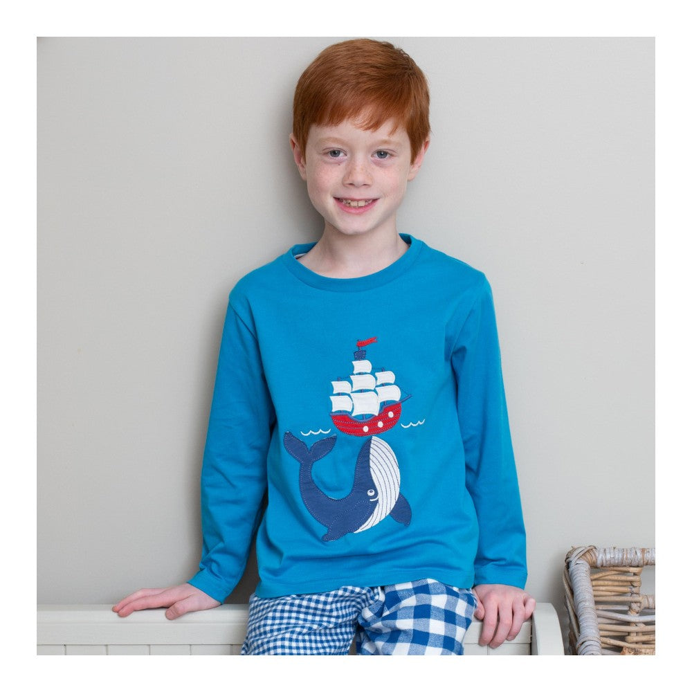 Organic Cotton Whale and Ship Long Sleeved Top