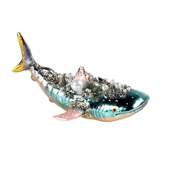 Glass Whale Christmas Decoration
