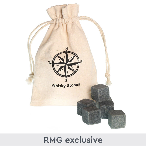 Whisky Stones in Compass Bag