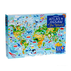 World Atlas and Jigsaw in box