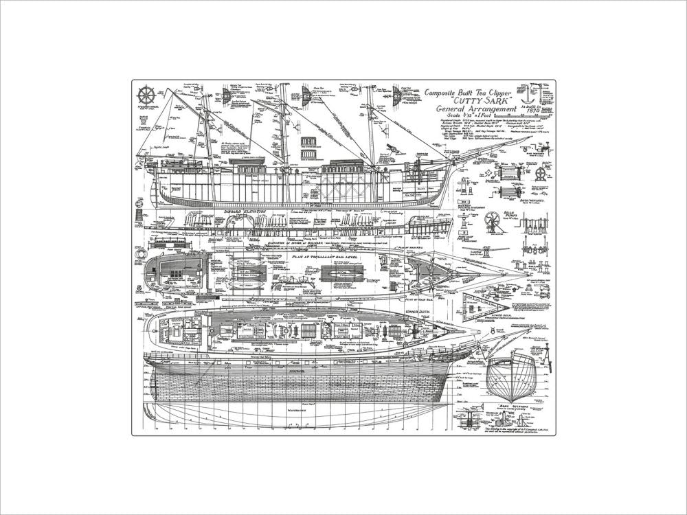 Cutty Sark General Arrangement Plan