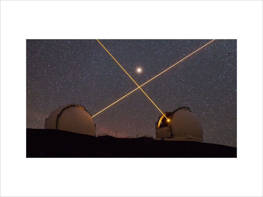 Mars above the Keck Lasers