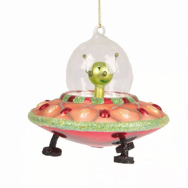 Alien in Spaceship Decoration