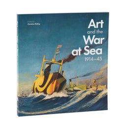 Art and The War at Sea book cover with artwork of ship with dazzle painting