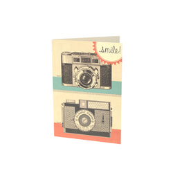 Vintage Camera Greetings Card