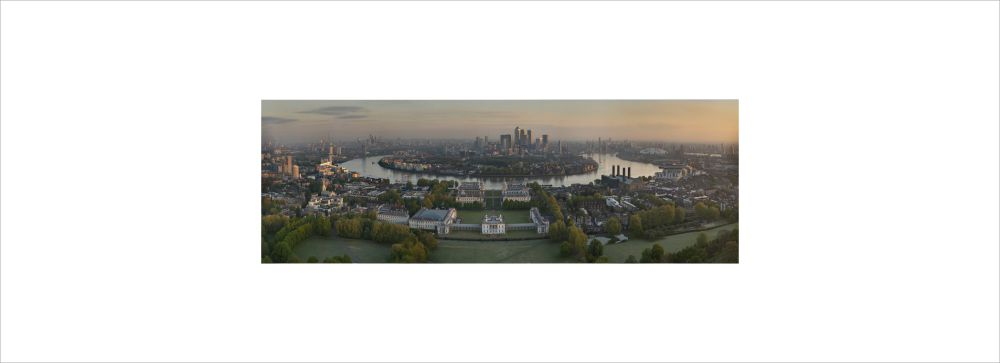 View of National Maritime Museum and Greenwich by UAV Drone Photography