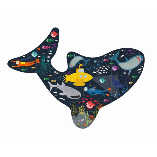 Deep Sea Shark Shaped 80 Piece Jigsaw