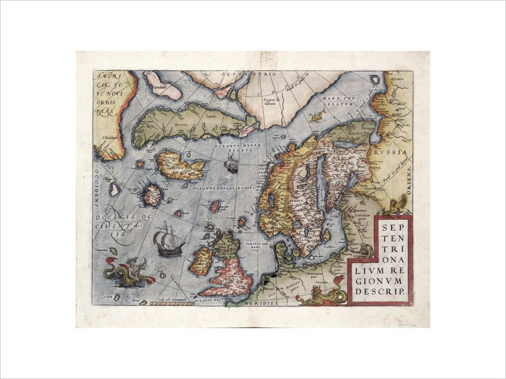 Map of Europe by Ortelius