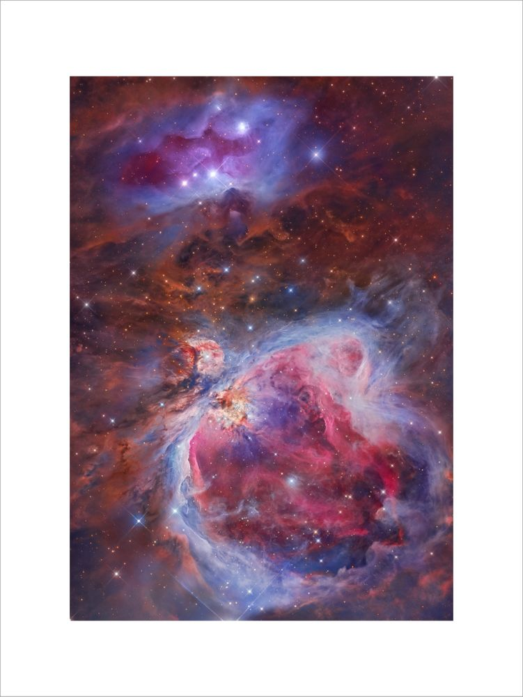 Mosaic of the Great Orion and Running Man Nebula