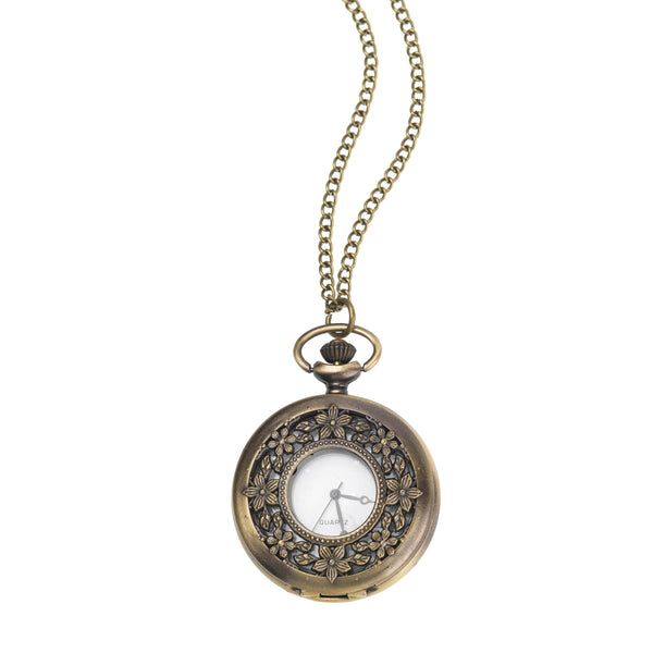 Flower Fob Watch Necklace