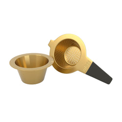 Brushed Gold Tea Strainer