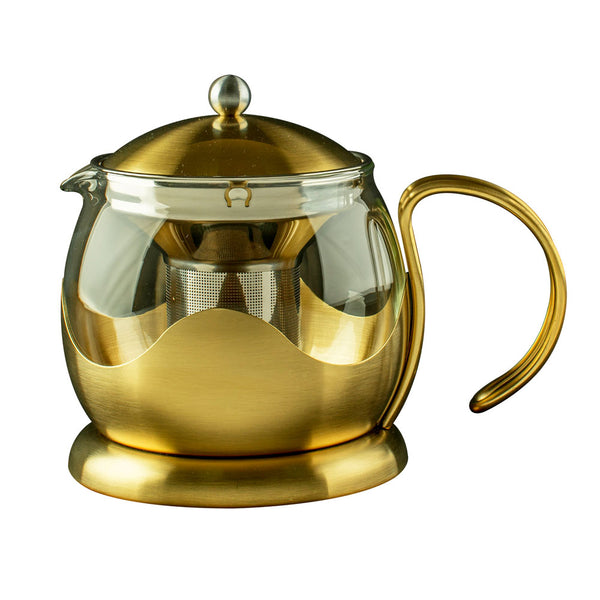 Brushed Gold Teapot