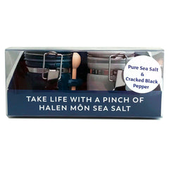 Halen Môn Pure Sea Salt and Pepper Little Jar Set