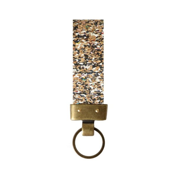eco keyring made from recycled multicolour plastic