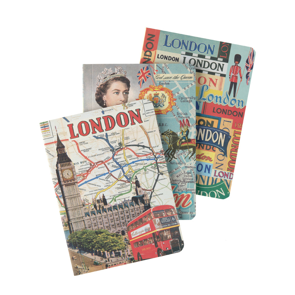 Vintage London A6 Notebook Set