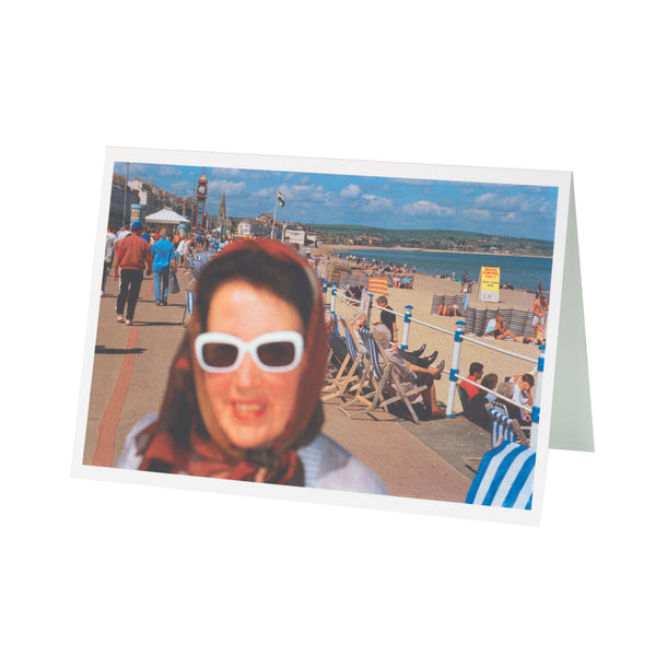 Weymouth Lady Martin Parr Greetings Card