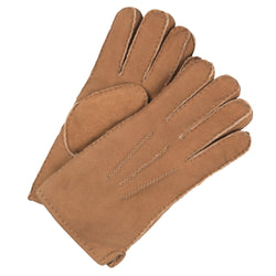 Mens sheepskin gloves tan