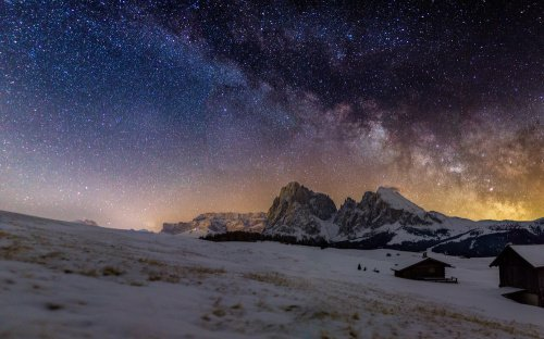 Milky Way Above Alpe Di Siusi/Dolomites