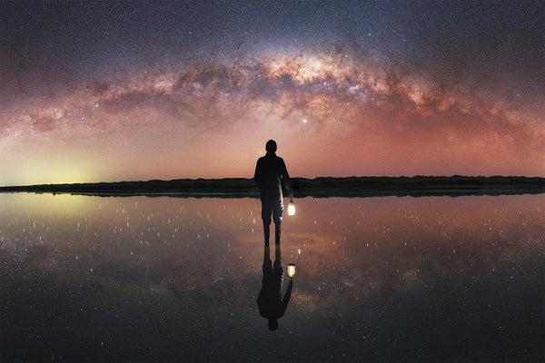 Self-portrait under the Milky Way
